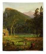 Eagle Cliff, Franconia Notch, New Hampshire Fleece Blanket