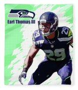 Earl Thomas,seattle Seahawks. Fleece Blanket