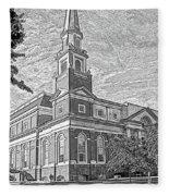 First Baptist Church Columbia Fleece Blanket
