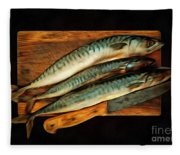 Fresh Mackerels Fleece Blanket