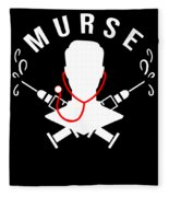Funny Murse Male Nurse Hospital Medicine Gift Fleece Blanket