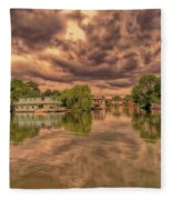 Further Down The River Fleece Blanket