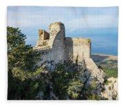 Kantara Castle, Cyprus Fleece Blanket