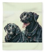 2 Labs Fleece Blanket