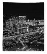 Las Vegas Luxor Sky Beam Fleece Blanket by Susan Candelario