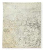 Leonidas At Thermopylae  Fleece Blanket