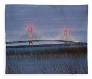 Mackinac Bridge Fleece Blanket