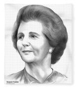 Margaret Thatcher Fleece Blanket
