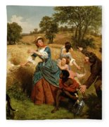 Mrs  Schuyler Burning Her Wheat Fields On The Approach Of The British  Fleece Blanket