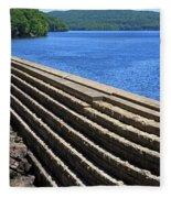 New Croton Dam At Croton On Hudson New York Fleece Blanket