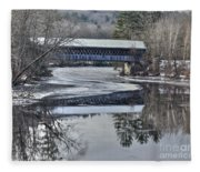 New England College Covered Bridge Fleece Blanket