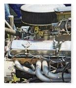 Old Car Engine Fleece Blanket