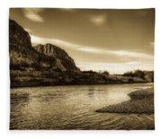 On The Rio Grande River Fleece Blanket
