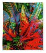 Plants And Leaves Hawaii Fleece Blanket