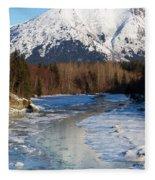 Portage Creek Portage Glacier Highway, Alaska Fleece Blanket