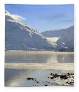 Portage Lake Alaska Fleece Blanket