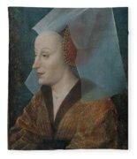 Portrait Of A Noblewoman Fleece Blanket