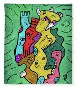 Psychedelic Animals Fleece Blanket