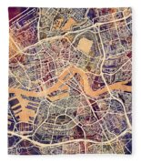 Rotterdam Netherlands City Map Fleece Blanket