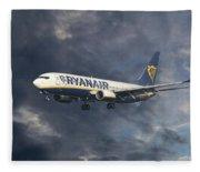 Ryanair Boeing 737-8as Fleece Blanket