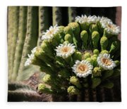 Saguaro Blossoms  Fleece Blanket
