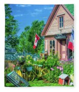 Scenic Garden And Antiques Store Fleece Blanket