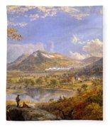 Starrucca Viaduct, Pennsylvania Fleece Blanket
