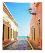 Streets Of San Juan - Puerto Rico Fleece Blanket