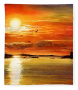 Sunset Lake Fleece Blanket