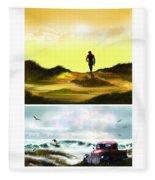 Surfer... Fleece Blanket