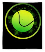Tennis Player Tennis Racket I Love Tennis Ball Fleece Blanket