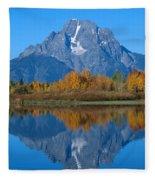 Teton Mountains Fleece Blanket