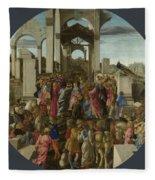 The Adoration Of The Kings  Fleece Blanket