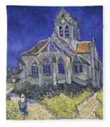 The Church In Auvers Sur Oise  View From The Chevet  Fleece Blanket