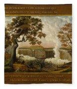 The Falls Of Niagara  Fleece Blanket