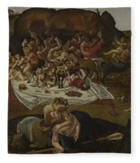 The Fight Between The Lapiths And The Centaurs  Fleece Blanket
