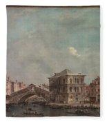 The Grand Canal Above The Rialto  Fleece Blanket