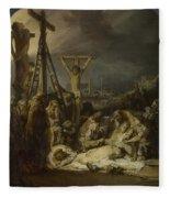 The Lamentation Over The Dead Christ  Fleece Blanket