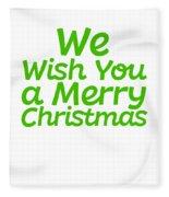 We Wish You A Merry Christmas Secret Santa Love Christmas Holiday Fleece Blanket