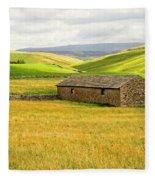 Yorkshire Dales Landscape Fleece Blanket