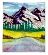 2019#01_mountain Lake Fleece Blanket