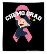 Breast Cancer Awareness Art For Warrior Women Dark Fleece Blanket