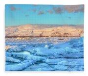Jokulsarlon - Iceland Fleece Blanket