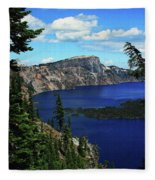 Crater Lake Oregon Fleece Blanket