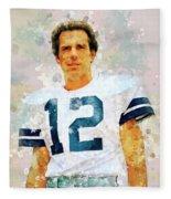 Dallas Cowboys.roger Thomas Staubach. Fleece Blanket