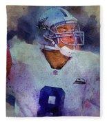 Dallas Cowboys.troy Kenneth Aikman Fleece Blanket