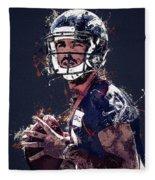 Denver Broncos.case Keenum. Fleece Blanket