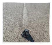Elevated View Of Racetrack, Death Fleece Blanket
