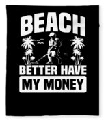 Metal Detector Beach Sweep Beep Dig Apparel Fleece Blanket