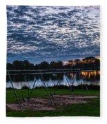 Obear Park Sunset Fleece Blanket